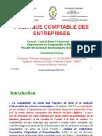 Politique Comptable Des Entreprises - Master Professionnel - Cca Dschang - 2020