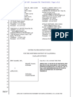 APPLE INC.'S MOTION FOR JUDGMENT ON PARTIAL FINDINGS