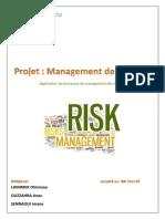 Projet management des risques