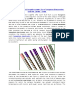 Differentiation in Usage Between Pure Tungsten Electrodes and the Other Types
