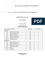 Distance Automobile Engineering Diploma KSOU, Syllabus Automobile Engineering Distance Mode