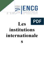 les instutions internationale