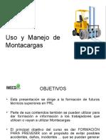 Curso Del Uso y Manejo Del Montacargas. IWECO-EDU