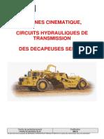 262 S - Chaîne cinématique, circuits hyd de trans des scrape