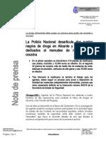 2021-05-19 - Comisaría Alicante Norte - Dos Operaciones Antidroga