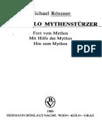 Pirandello Mythenstürzer. Fort vom Mythos Mit Hilfe des Mythos Hin zum Mythos