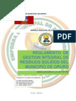 Reglamento Municipal de Residuos Solidos DIC-2018