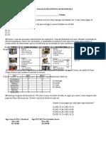 Avaliação Diagnóstica de Matemática do 8º ano