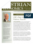 Austrian Economics Newsletter Fall 2003