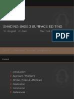 Shading Based Surface Editing