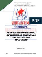 Plan de Accion Distrital de Seguridad Ciudadana 2021