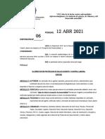 Disposicion 06-2021 Vuelta a La Presencialidad