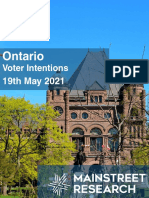 Ontario Vote Intention (May 19)