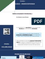 5. PP I- PRUEBA DE SOLUBILIDAD - HIGROSCOPICIDAD