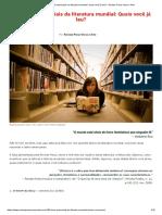 160 livros essenciais da literatura mundial
