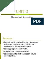 UNIT -2 Elements of Annual Accounts