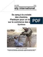 Amnesty internationnal commerce des armes