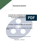 REZENDE (2013) - Estudo Do Comportamento de Barragem de Rejeito Arenoso Alteada Por Montante