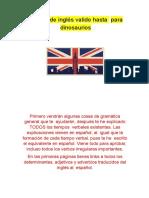 Manual de Inglés Valido Hasta Para Dinosaurios