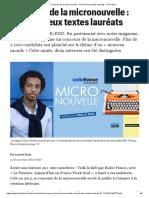 Concours de la micronouvelle _ voici les deux textes lauréats - Le Parisien