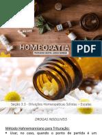 Seção 3.3 - Diluições Homeopáticas Sólidas – Escalas