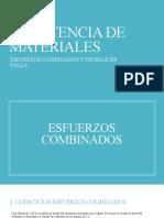 ESFUERZOS COMBINADOS-TEORÍAS DE FALLA