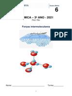 Apostila 6 - Forças intermoleculares