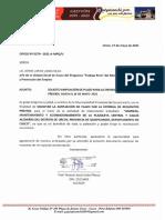 Oficio N° 0279 e informe  AMPLIACION DE PLAZO