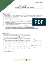 Série d'exercices N° 10 - Sciences physiques Cinématique – Chute libre – Les alcools - 3ème Sciences exp (2010-2011) Mr Adam Bouali