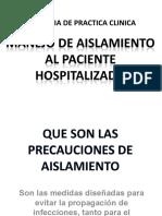aislamiento en paciente hospitalizado