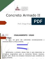 CONCRETO ARMADO II - Cisalhamento em Vigas