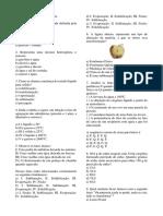 Atividade de Química 9ano