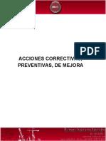 Acción Preventiva y Correctiva
