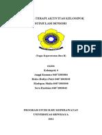 Terapi Aktivitas Kelompok Stimulasi Persepsi