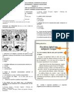 evaluación actividades de apoyo 3 periodo