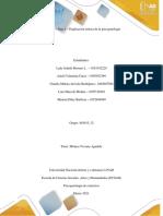 Unidad 1 - Paso 2 - Explicación Teórica de La Psicopatología–Rúbrica de Evaluación y Entrega de La Actividad.