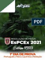 Prova Comentada - Concurso EsPCEx 2021 - DIA 01