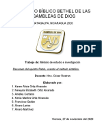 Pablo de Tarso, Resumen Grupo 1 Del 27 Nov 2020