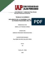 INFLUENCIA DE LA PANDEMIA COVD 19 EN LA ACTIVIDAD FINANCIERA DEL PERÚ