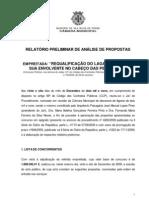 Relatorio preliminar de analise de propostas