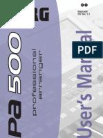Pa500-110UM-ENG
