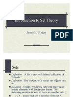 Intro to set theory