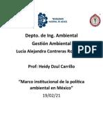 Marco institucional de la política ambiental en México