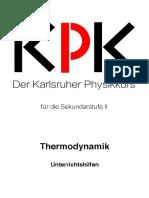 Sek II Thermodynamik Lehrer