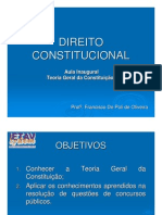DIREITO CONSTITUCIONAL - TEORIA GERAL DA CONSTITUIÇÃO - PROF FCO DE POLI DE OLIVEIRA