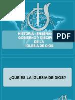 Historia , enseñanza, gobierno y disciplina de la Iglesia de Dios 2019