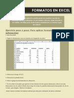 Formatos en Excel