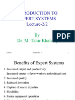 Introduction to Expert Systems (2 of 2)