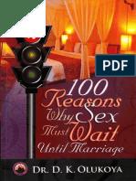 100 raisons pour lesquelles le sexe doit attendre jusqu'au mariage°D. K. OLUKOYA°106