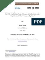 les pme et la politique fiscale nationale_effects dviction ou de complmentarit dans leconomie togolaise